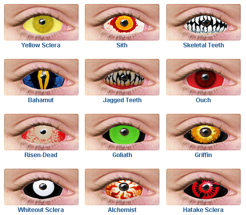 Ghost Lounge Creepy Halloween Contact Lenses And Teeth To
