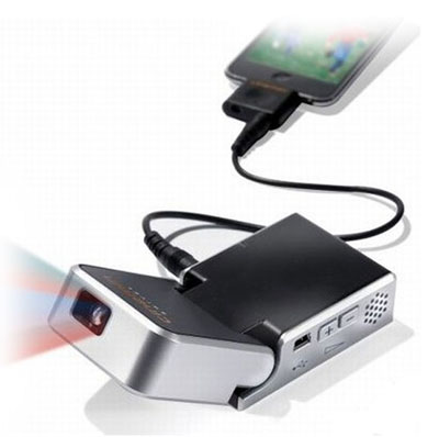 Mini ipod video projector all techno blog technology blog for Iphone projector portable