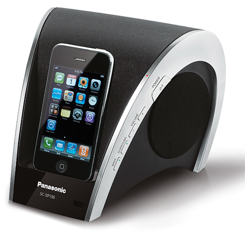 ipod docking station sc sp100 by panasonic all techno blog technology blog. Black Bedroom Furniture Sets. Home Design Ideas