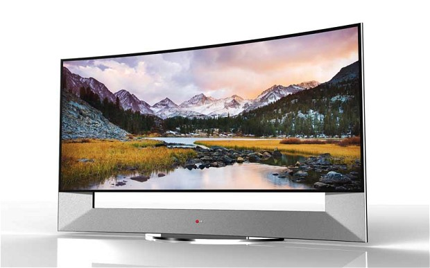 samsung lg 150-inch curved tv