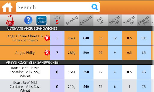 Fast-Food-Nutrition-android